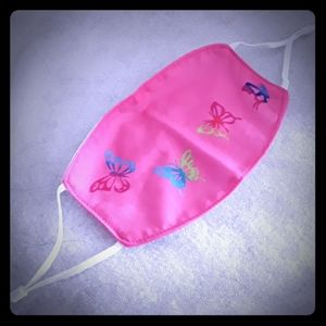 Butterfly Pink Face Mask